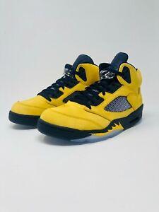best sneakers 4c940 e37a3 Details about Nike Air Jordan 5 Retro SE Size 11 Michigan Fab Five  Armarillo Yellow CQ9541-704