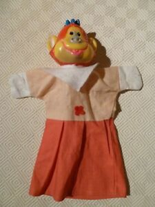 Capable Vintage Rare Marionnette à Main-punch & Judy-singe-afficher Le Titre D'origine ArôMe Parfumé