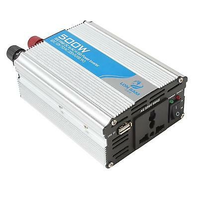 500W Automatic Thermal Shutdown Car Power Inverter Adapter DC 12V to AC 220V