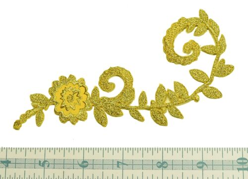 Vintage Floral Metallic  Gold Applique 1