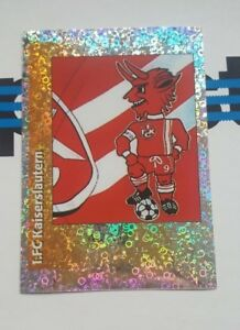 Panini-Bundesliga-1996-Sticker-C-Maskottchen-Kaiserslautern-Wappen-Glitzer-96