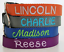 Embroidered Nylon Dog Collar Personalized Custom Adjustable Name and Number