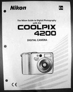 nikon coolpix 4200 digital camera user guide instruction manual ebay rh ebay com nikon coolpix 2200 manual nikon coolpix 3200 manual