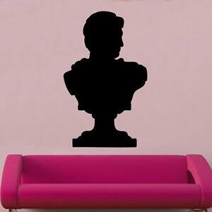 Adroit Buste Romain Decal Autocollant Mural Vinyle Dieu Romain Ornée-afficher Le Titre D'origine