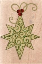 NEW STAMPABILITES RUBBER STAMP Christmas holiday STAR ORNAMENT free us ship mntd