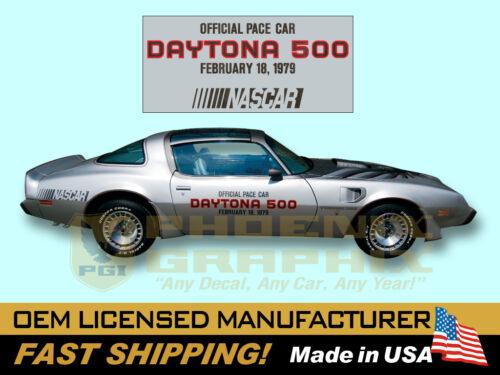 1979 Pontiac Firebird Trans Am NASCAR DAYTONA 500 Pace Car Door Decals Kit
