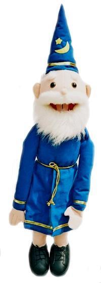 Puppet  Old  Wizard 26  Ventriloquist.Play,Educational.Moving mouth and arm rod