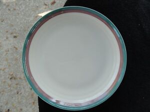 Image is loading Pfaltzgraff-Juniper-Green-Purple-Stripes-Bands-Off-White- : off white dinner plates - pezcame.com