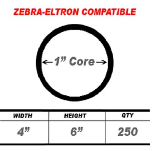 """11 Roll 250 Labels 4x6 4/"""" x 6/"""" Direct Thermal Zebra Eltron Shipping Labels 4 X 6"""