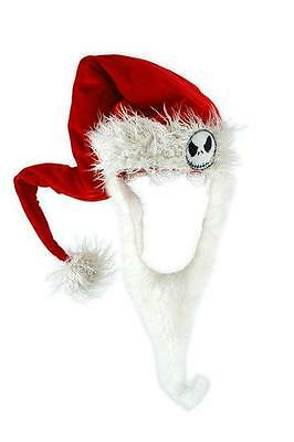 "Nightmare Before Christmas Official JACK ""Sandy Claws"" Santa HAT & BEARD Prop"
