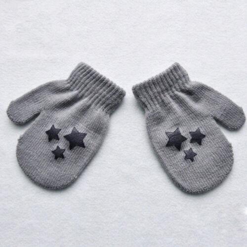 Newest Dots Star Heart Pattern Mittens Soft Knitting Warm Gloves For Kids Child