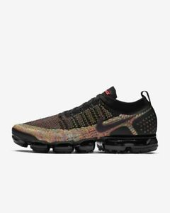 408a30d9dcba6b NIKE AIR VAPORMAX FLYKNIT 2 942842-017 BLACK PINK BLUE MULTICOLOR