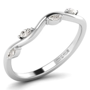 0.20 carat Marquise Cut Half Eternity Ring Available in 18K gold
