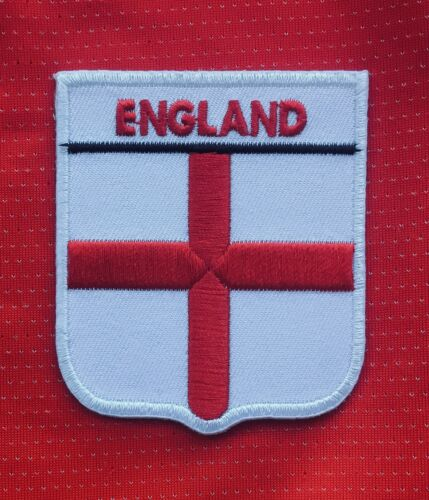 ENGLAND NATIONAL FLAG ST GEORGE CROSS  FOOTBALL CREST BADGE IRON SEW ON PATCH
