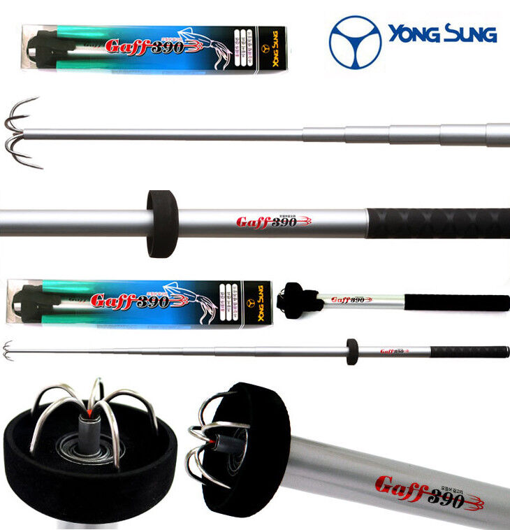 Yong Sung Telescopic Squid Gaff Hook + Pouch - Choose 3.0m or 3.9m
