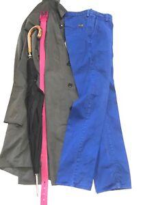 HUGO-BOSS-Mens-CASUAL-Pants-Flat-Front-BRIGHT-BLUE-COTTON-28-SLIM-FIT