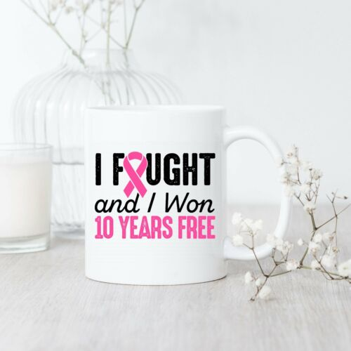 Details about  /Breast Cancerversary 10 Years Free Mug Breast Cancer Survivor Breast Cancer