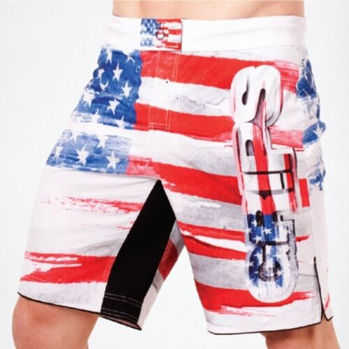Grips Athletics Mens Americano Fight Shorts White