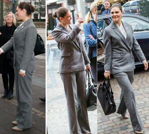 Erdem-H-amp-M-SUIT-Grey-Wool-Blend-Jacket-Blazer-Trousers-UK-8-10-12-14-34-36-38-40