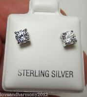 0.50 ct round Brilliant cut stud Earrings solid 925 sterling silver butterfly