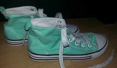 Schuhe Boots Stiefel Gr. 34 Mädchen von H&M mint grün Knöchelschuhe