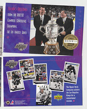 1993-94 UPPER DECK LOS ANGELES KINGS CHRISTMAS CARD WAYNE GRETZKY LUC ROBITAILLE