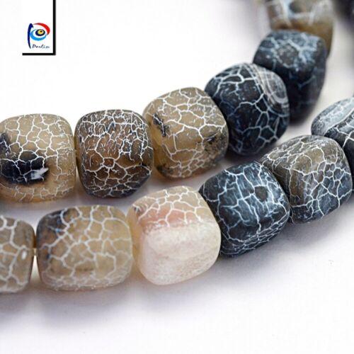 Natürliche Achat Perlen Würfel Matte Schwarz 8mm Edelsteine Schmucksteine G170