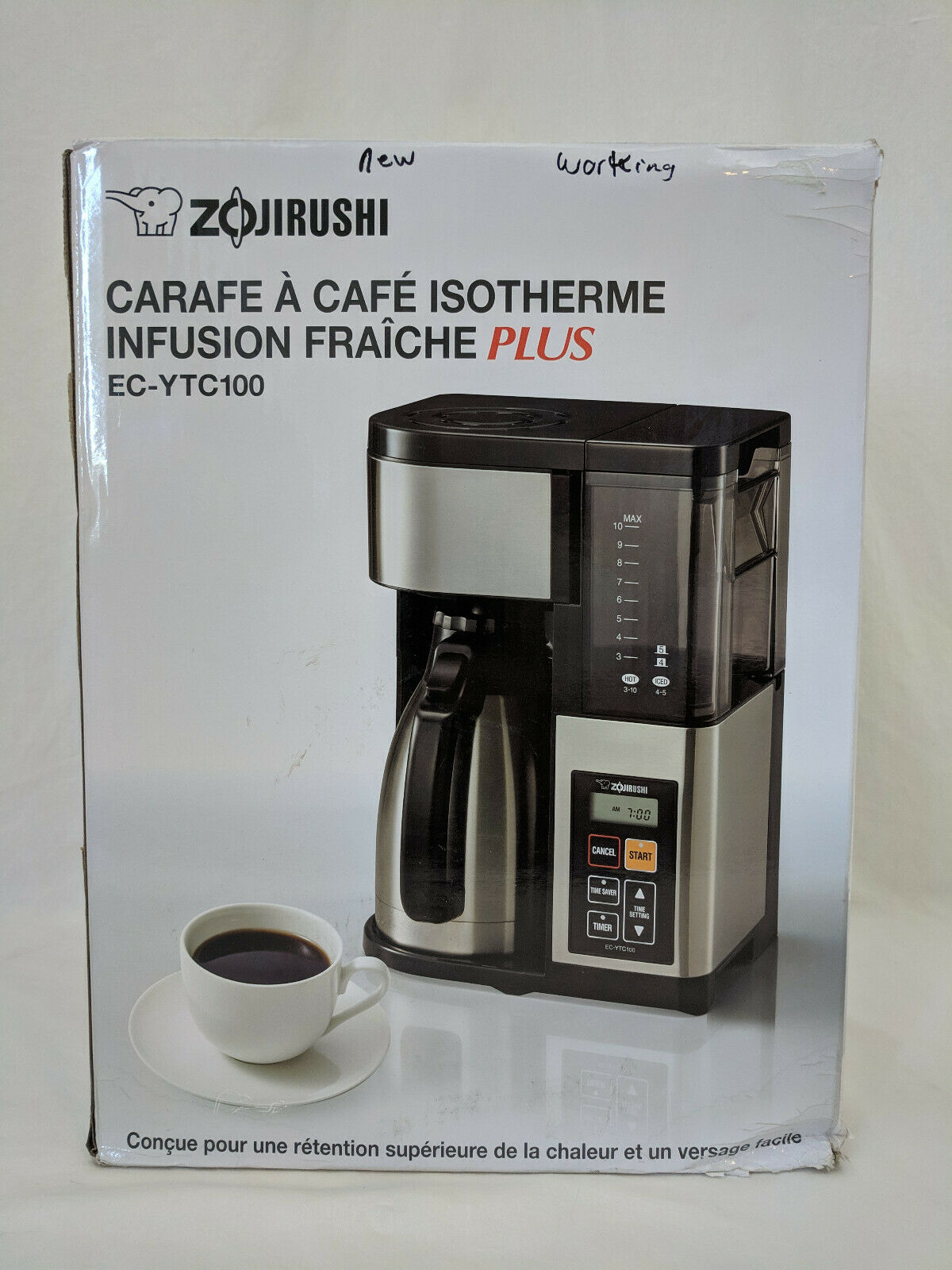Zojirush 10-Cup thermique Carafe Cafetière en Noir