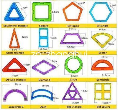 62pcs 3D Bricks Magnetic Building Blocks Educational Children Kids DIY Toys New
