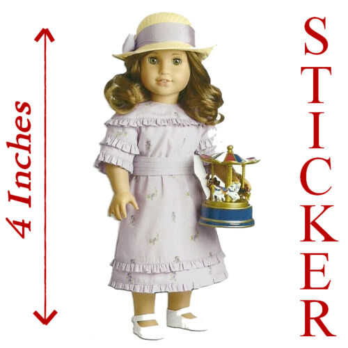 """PARTY FAVOR~GIFT BAG! 4/"""" HIGH~SUMMER OUTFIT STICKER AMERICAN GIRL REBECCA"""