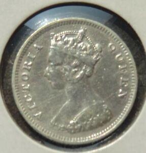 1895 Hong-kong (queen Victoria) Dix (10) Centimes Pièce Argent (hka)-afficher Le Titre D'origine Tmpgkncu-08002439-148967494