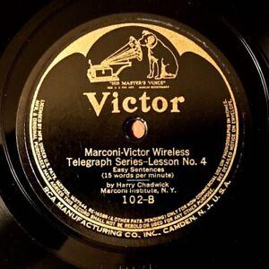 Marconi-Victor Wireless Telegraph Lessons - Scarce 1918 Victor 6-record Set
