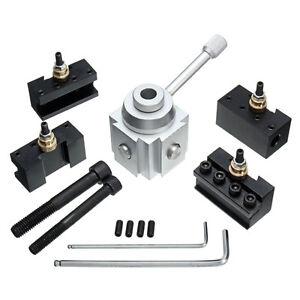 7x-Quick-Change-Tool-Post-Holder-Mount-Aluminum-Alloy-Kit-For-Table-Hobby-Lathe