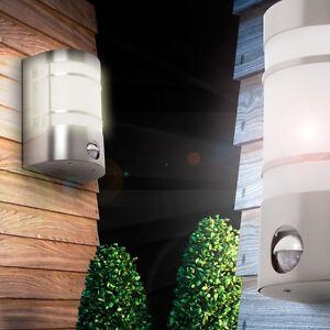 wand garten lampe haus t r leuchte glas au en lampe mit bewegungsmelder sensor ebay. Black Bedroom Furniture Sets. Home Design Ideas