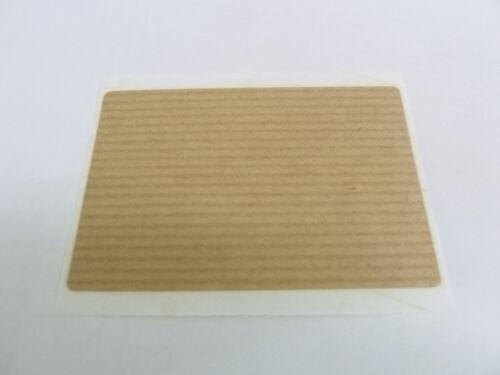 Hellbraun Selbstklebeetiketten kraft Aufkleber Mini Sticker Pack 3 Formen