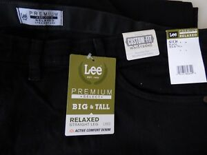 Lee Relaxed Fit Straight Leg Premium Select Flex Waistband Jeans Mens