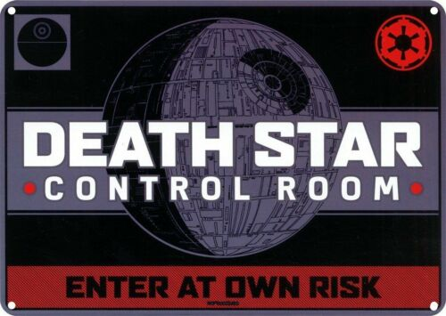 Details about  /DEATH STAR CONTROL ROOM A5 STEEL SIGN TIN PICTURE RETRO PLAQUE STAR WARS