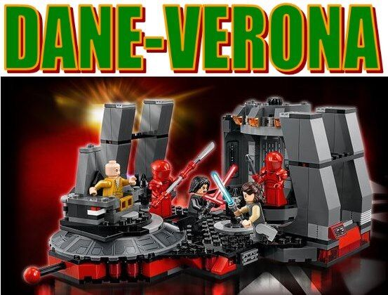 Lego - SALA DEL TRONO DI SNOKE - Snoke's Throne Room  75216  Star Wars