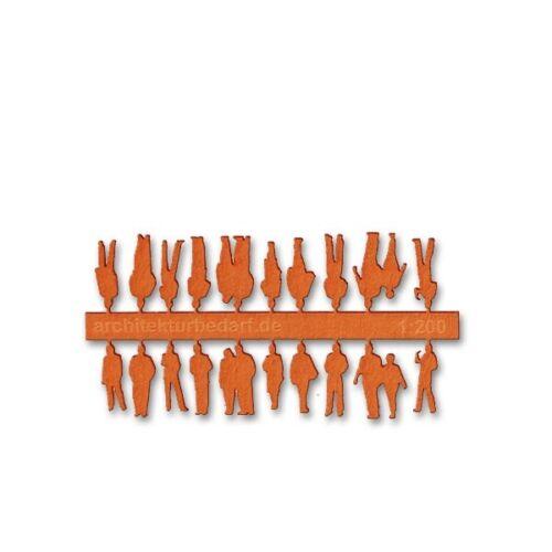 0,15€//Stück 20 Stück Figuren 1:200 orange aus Laserkarton