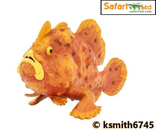 Safari frogfish solide Jouet en plastique mer animal marin tropical GRENOUILLE POISSON Nouveau