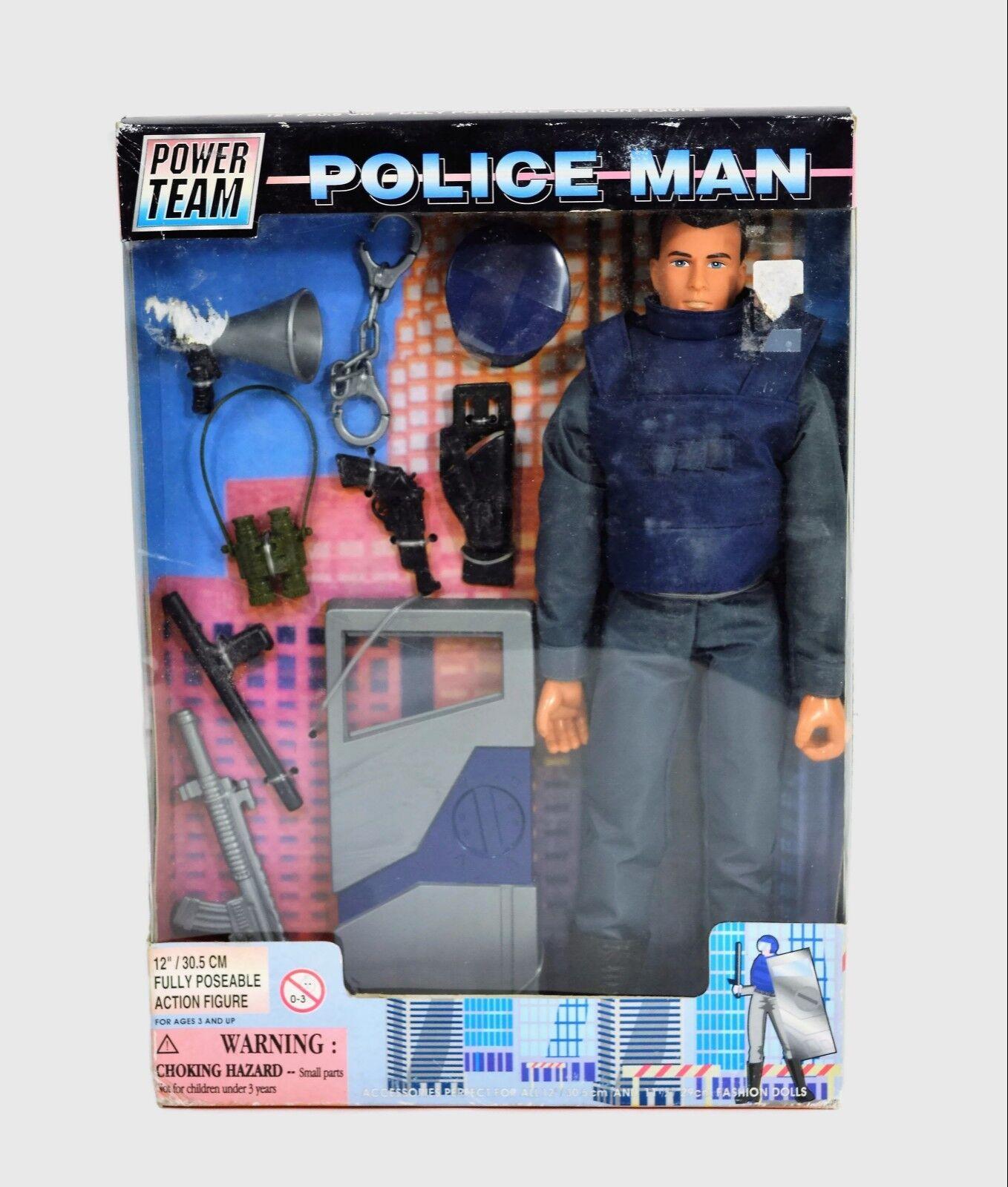Power Team Team Team Police Man 12 Inch Action Figure  M&C Toy Center 9a3e81