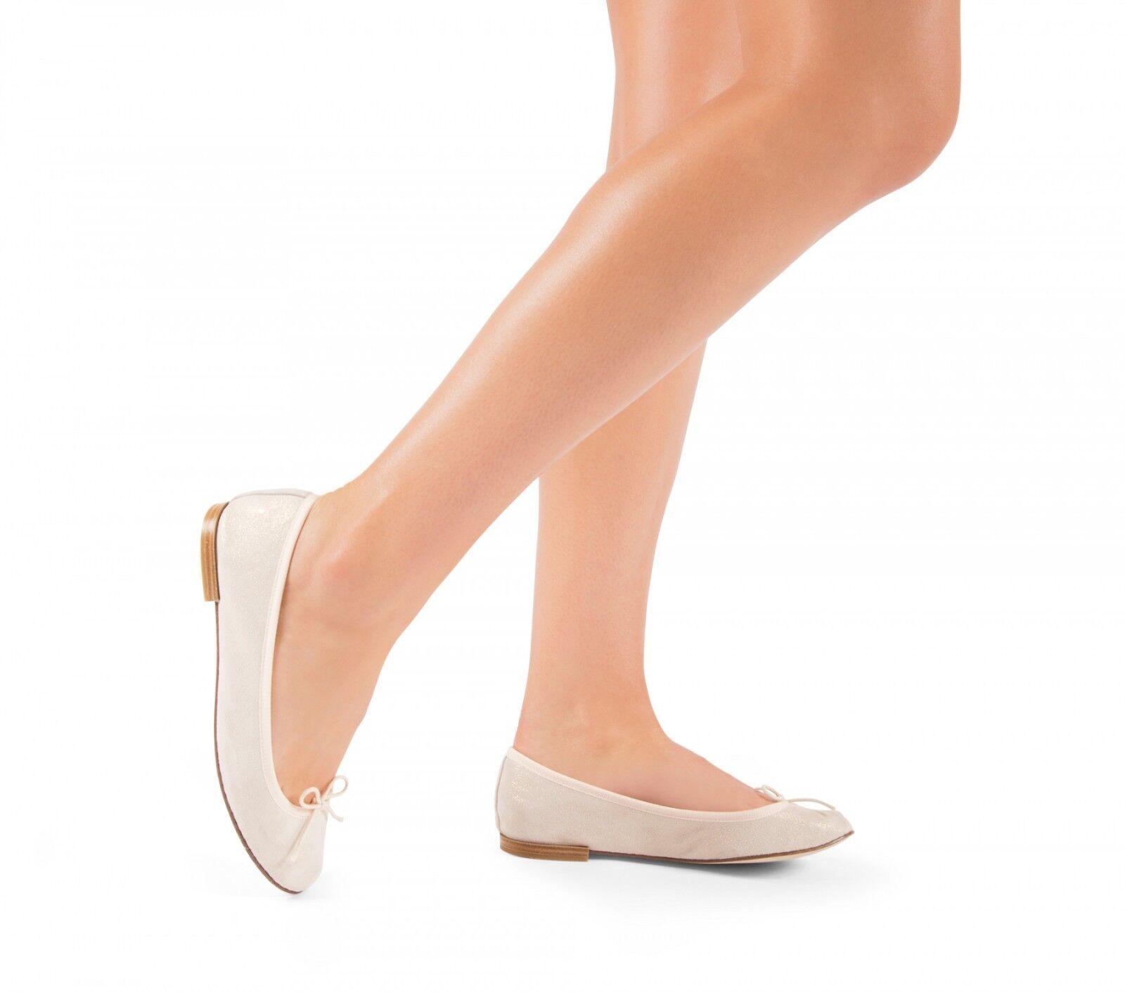 miglior prezzo migliore Repetto Cendrillon Ballet Flats Flats Flats Metallic Goatskin SuedeSpirit Cream Dimensione 41  con il prezzo economico per ottenere la migliore marca