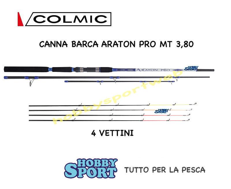 CANNA COLMIC BARCA ARATON mt 3,80 AD INNESTI + 4 VETTE