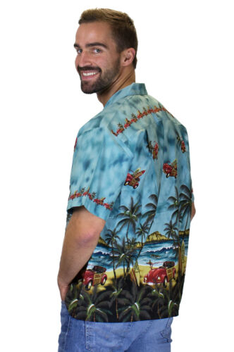 KY/'s Original Camicia Hawaiana Coleottero Volante Flying Beetle Verde