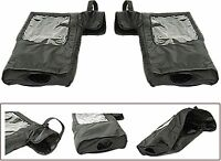 Snowmobile Atv Adjustable Easy Use Handlebar Mitts Gauntlets With Clear Window