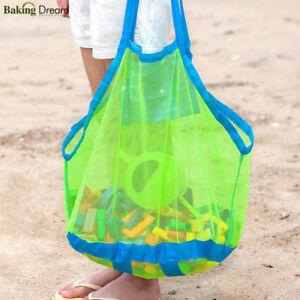 Portable Sand Away Carry All Beach Mesh Bag Tote Kids Toys Beach Storage Bag Net