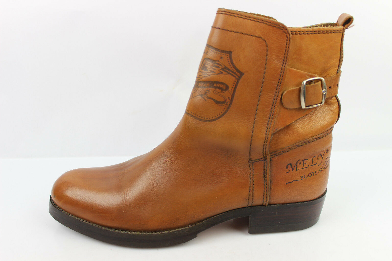 VINTAGE Bottines MELITTO MELY Stiefel Tout Cuir Fauve T 44 44 44 TBE 3be64a