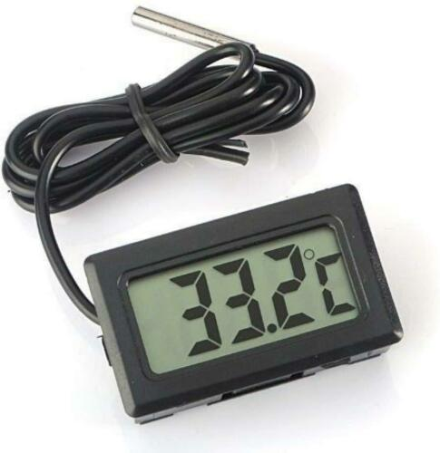 Eidyer Digital LCD Thermometer Temperature Monitor with External Waterproof...