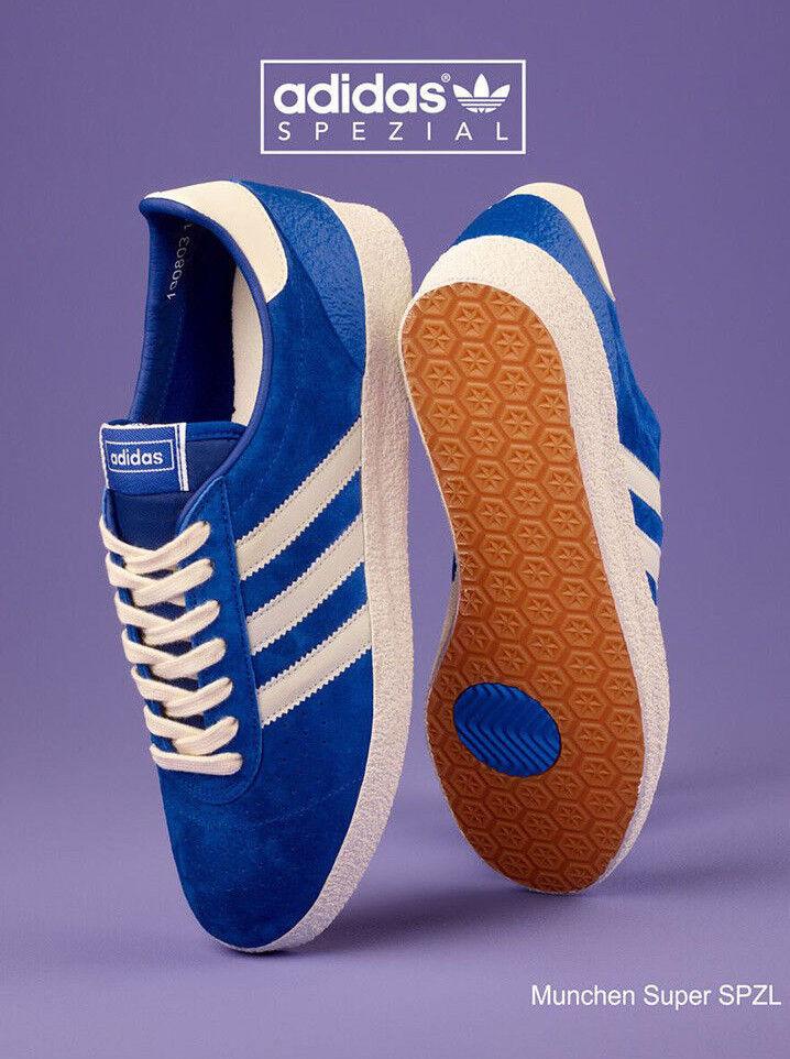 Nuevo Y En Caja Adidas Munchen Super spzl neta Reino Unido 7 blancoo Azul B41812