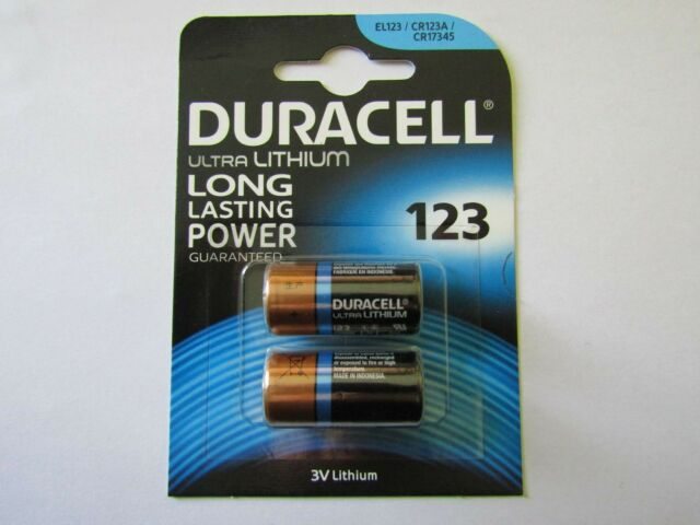 2x CR123 Blister Pack Lithium Battery duracell AR1878